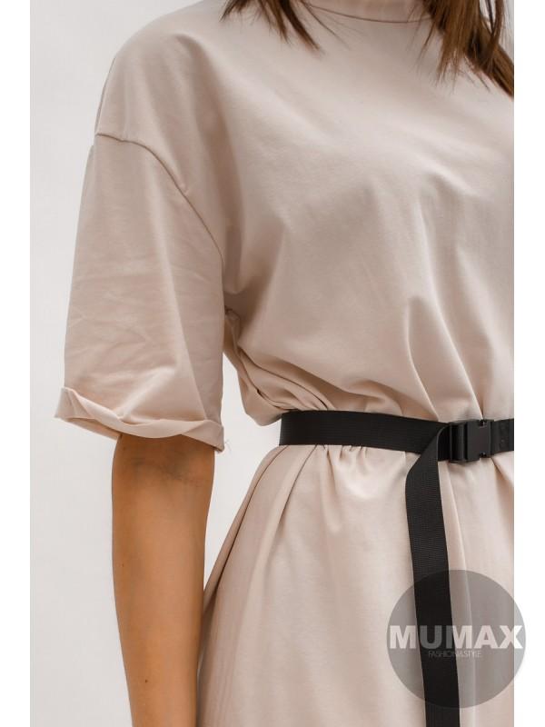 Bavlnéné predĺžené tričko-šaty