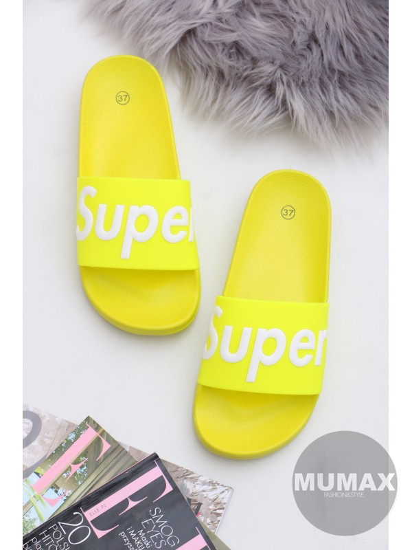 Neónové šľapky SUPER