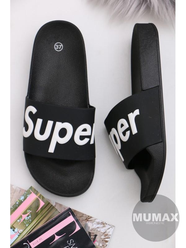 Čierne šľapky SUPER