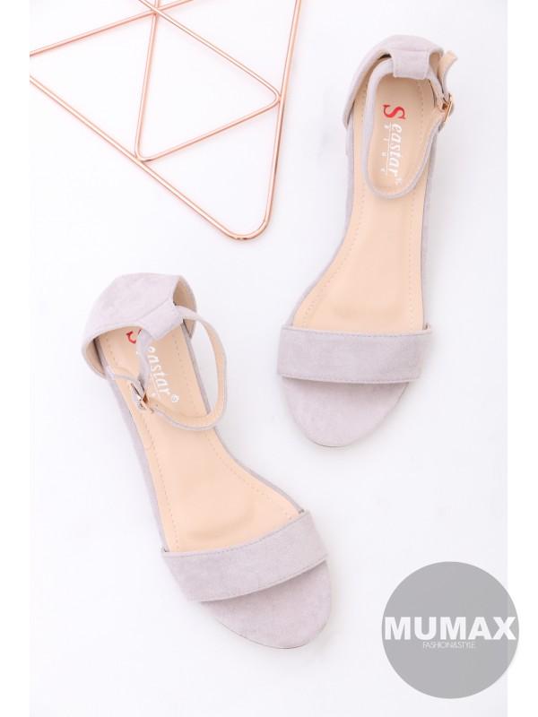 Šedé sandále