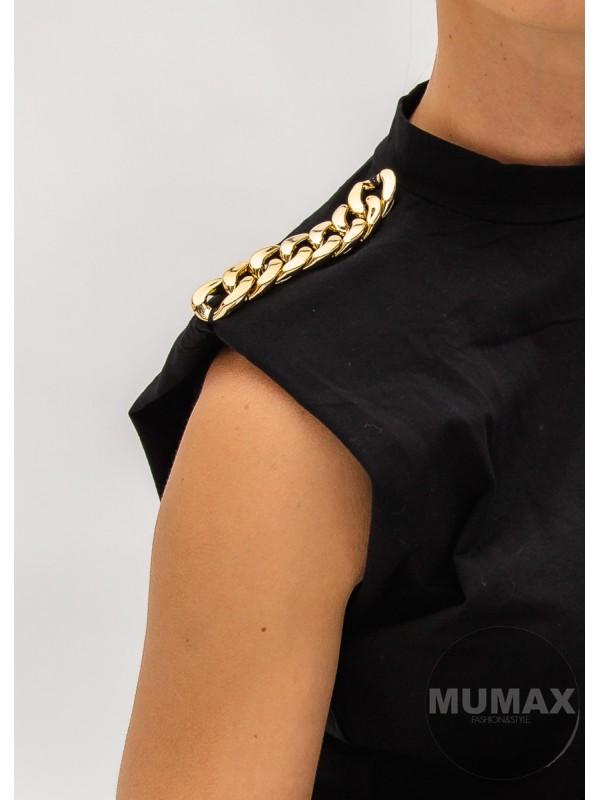 Tričko s výstužou v ramenách a retiazkou